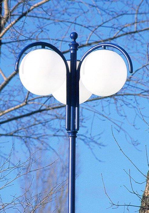 latarnia współczesna podwójna kula art metal