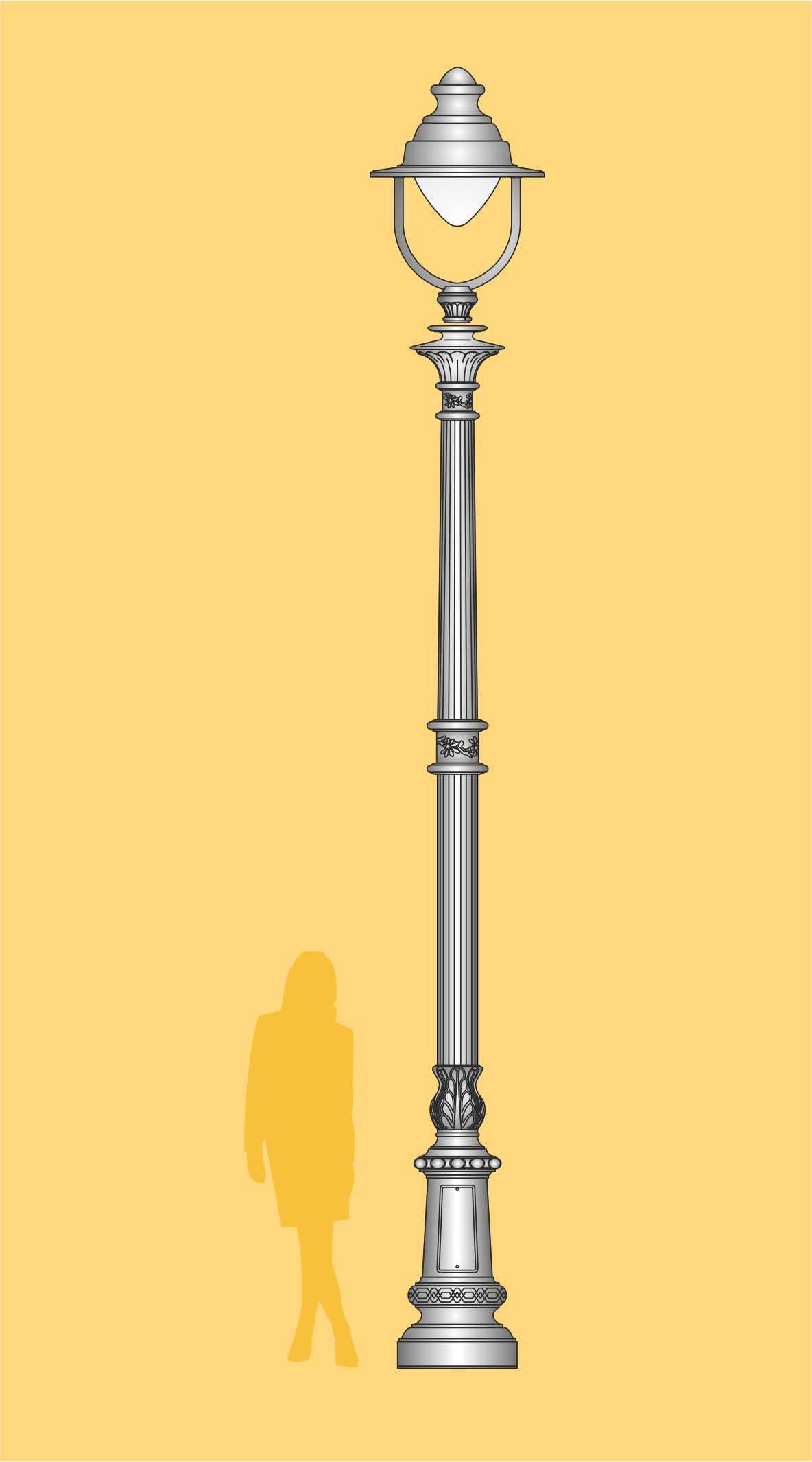 stylowa latarnia, ekskluzywna latarnia LED, latarnia ogrodowa, latarnia parkowa